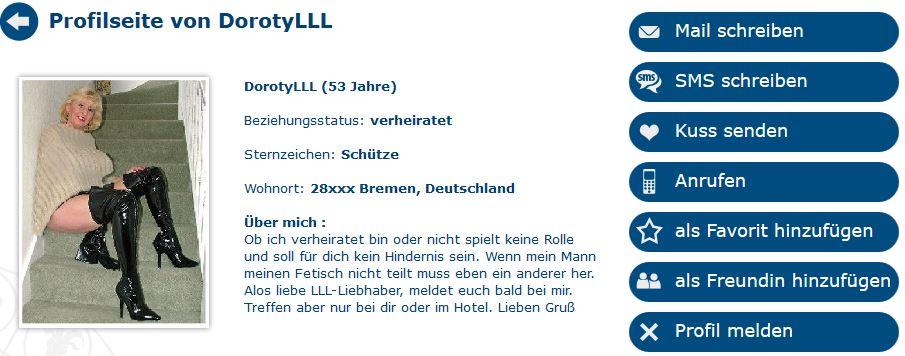 Lack-Leder-Latex in Geile Oma sucht Seitensprung in Bremen