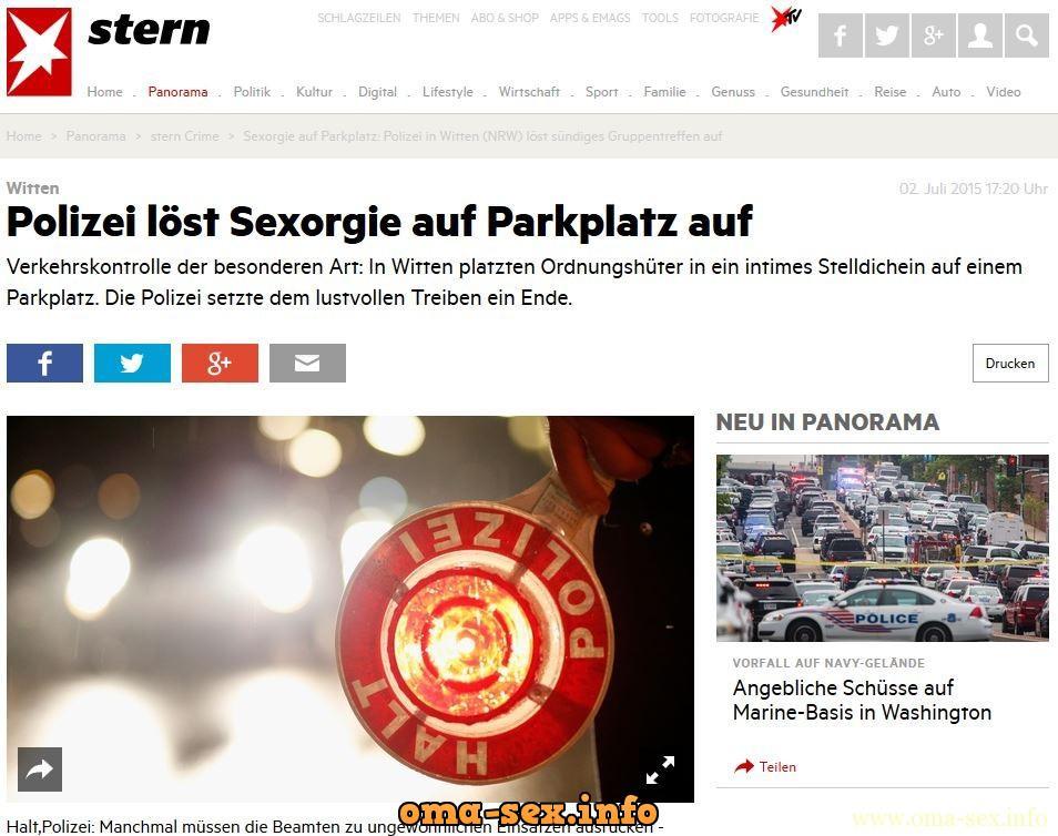 Freaky informiert: In eigener Sache bzgl. Sexorgie auf dem Parkplatz in Witten